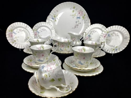 Royal Albert Meadow Flower Tea Set For 6 / 21 Piece / Tea Cup Trio / Vintage